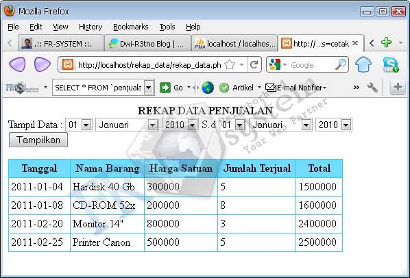 Membuat Rekap Data Dengan PHP | In My Idea