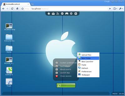 Web Design Sistem Operasi Live Di Internet Browser Cv